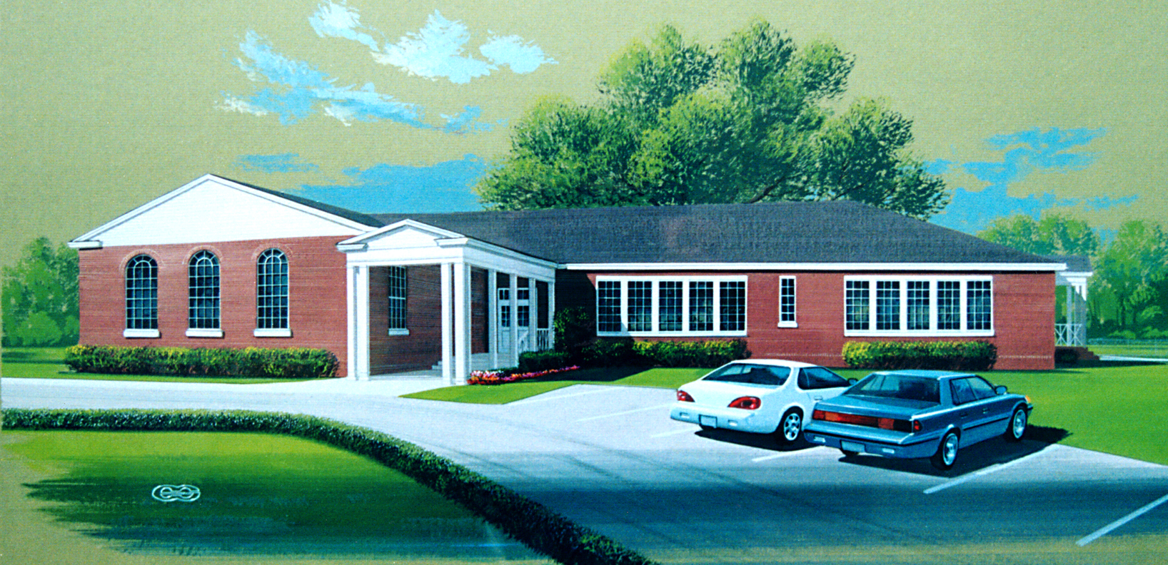 Artist's rendering of the restored Hernando School